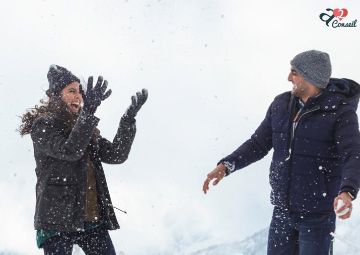 couple neige article